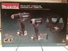 *NEW* Makita 12V Max CXT 2 Speed Li-Ion Cordless Impact Drill Driver Combo CT226