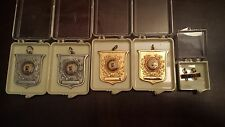 Lot of 5 Various 1950's Archery Award Medal Pendants Minero Newcome Pheasdale PA