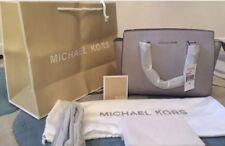 BNWT Michael Kors Pearl Grey Selma Medium Satchel Handbag