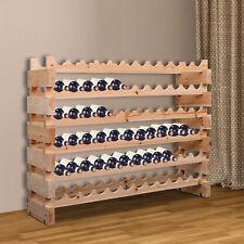 72 Botella Vino estante del sostenedor del estante de pie sostiene bodega de almacenamiento madera de abeto de pie