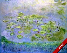 POND WITH WATER LILLIES LILLY PADS CLAUDE MONET PAINTING ART REAL CANVAS PRINT