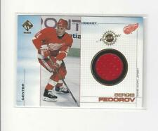 2000-01 Private Stock Game Gear #44 Sergei Fedorov JERSEY Red Wings
