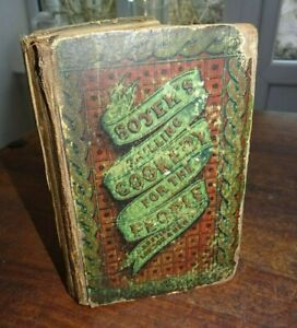 1855 SHILLING COOKERY FOR THE PEOPLE PLAIN COOKERY & DOMESTIC ECONOMY by SOYER ^