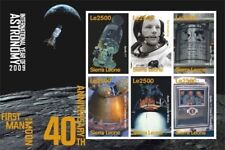 Sierra Leone- First Man on the Moon Stamp - Sheet of 6 MNH