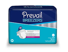 PREVAIL BREEZERS LARGE CS OF 72 BRIEFS 45-58 INCH WAIST ADULT DIAPERS FREE SHIP
