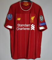 LIVERPOOL ANFIELD 2019 2020 HOME FOOTBALL SHIRT JERSEY SIZE S UCL