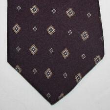 """NEW 54"""" Ornie Silk Neck Tie Dark Burgundy with Gray and Beige Diamonds 449"""