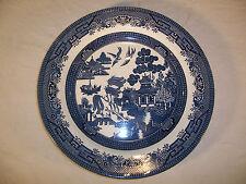 """Churchill England Willow 10.5"""" Dinner Plate Blue White Dinnerware Single"""