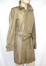 $3,295 Burberry London 38 48 LambSkin Leather Trench Coat Jacket Men Gift ITALY