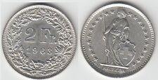 Gertbrolen Suisse 2 Francs argent 1963   Swiss  Confédération Hélvétique