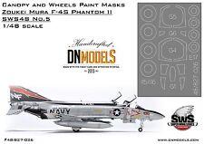 DN Models Canopy 1/48 Wheels Paint Masks F-4S Phantom II Zoukei-Mura SWS48 No.5