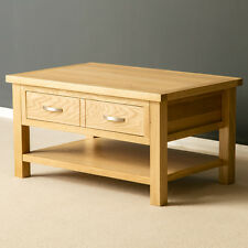 London Oak Coffee Table / Light Oak Lounge Table / Solid Wood Table / Brand New