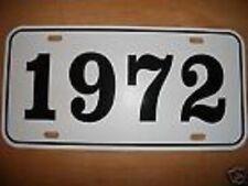 1972 OLDSMOBILE CHEVROLET BUICK PONTIAC LICENSE PLATE
