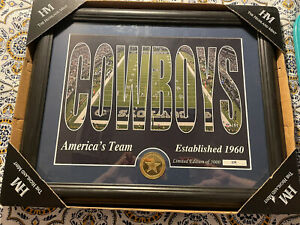 Dallas Cowboys  Silhouette Bronze Coin Photo Mint The Highland Mint 109/5000