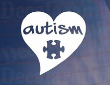 AUTISM Love Heart/Jigsaw Mental Health Car/Van/Window/Bumper/Laptop Sticker