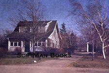 KODACHROME Red Border Slide New York Locksley Park Cottage Trees Garage 1955!!!