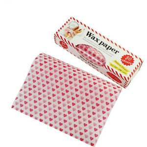 50Pcs Wax Food Grade Baking Wrappers Grease-proof for Sandwich Paper Bread