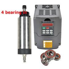 FOUR BEARING 2.2KW ER20 AIR COOLED SPINDLE MOTOR &2.2 KW INVERTER DRIVE VFD CNC