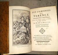 °Gravures COCHIN Rel.XVIII° 3 vol - TERENCE: Comédies, Jombert, 1771