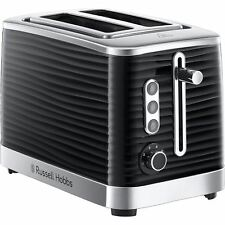 Russell Hobbs 24371 Inspire High Gloss Plastic 2-Slice Toaster, Black and Chrome