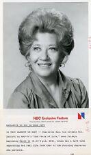 CHARLOTTE RAE SMILING PORTRAIT THE FACTS OF LIFE ORIGINAL 1979 NBC TV PHOTO