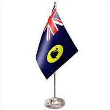 Australia Western Australia Satin & Chrome Premium Table Flag