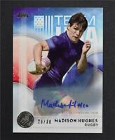2016 Topps U.S. Olympic Team Autographs Silver #18 Madison Hughes Auto /30