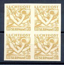 SURINAME LP 19  BLOK VAN 4  -  PROOF ONGETAND (*)    PR EX    CERTIFICAAT @2