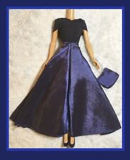 """NAVY BLUE SATIN GOWN DRESS PURSE  Kari Michell Clothing for Barbie 11.5"""" dolls"""