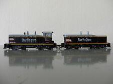 ATHEARN HO BURLINGTON ROUTE Diesellok SWITCHER SW-8 # 9280 + DUMMY SW1500