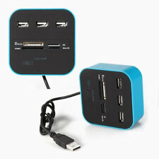 All In 1 Multi-card Reader w/ 3 Ports USB 2.0 Hub Box Combo for SD/MMC/M2/MS MP