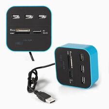 1x ALL IN 1 multi-tarjeta Lector Con 3-ports USB 2.0 HUB combinación para SD/MMC
