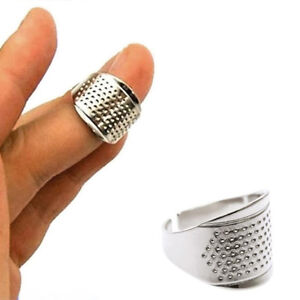 1PC Metal Thimbles Adjustable Ring Tailor Sewing Quilting DIY Tool Home Supplies