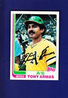 Tony Armas 1982 TOPPS Baseball #60 (EX+) Oakland Athletics