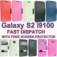 FOR SUMSUNG GALAXY S2 I9100 SMART LEATHER CASE COVER WALLET DESIGN FLIP SII