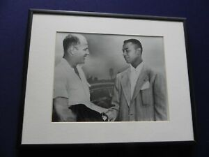 Larry Doby of the Cleveland Indians with Bill Veeck ready to open up the AL