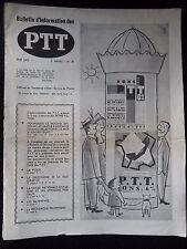 LA POSTE-P.T.T.-FACTEUR- TELEPHONE-TELEGRAPHE-BULLETIN INFORMATION DES PTT N°20