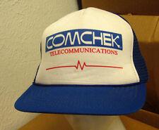 COMCHEK vtg trucker cap trucking company Vital Signs hat Comdata nylon snapback