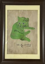 Andy warhol 'A Cat Named Sam' painting on old paper. *RARE*
