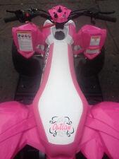 Polaris Outlaw 110 2016 pink white logo