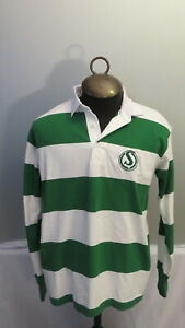 Saskatachewan Roughriders Polo Shirt - Striped with Old Logo - Mens Medium - NWT