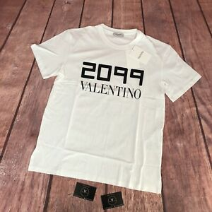 """Valentino 2099 Logo T-Shirt AW19/20 - Size L 21"""" Pit To Pit - £325"""