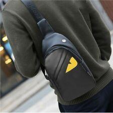 Cool Men's Leather Chest Sling Pack Shoulder Bag Sport Backpack Satchel Daypack
