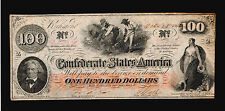 1862 Richmond $100 Confederate Currency,