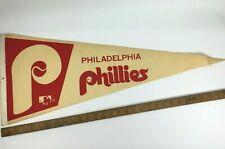 VINTAGE 1970's PHILADEPHIA PHILLIES PENNANT MLB Original Philly 30'' x 12''