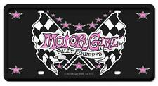 Hot Rod Biker Babe Motor Girl License Plate Man Cave Garage Body Shop CULT015