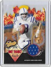 "2004 Peyton Manning Fleer '' Hot Ticket "" Authentic Game-Worn Jersey x/500 Card*"