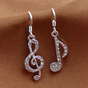 Gorgeous 925 Silver Drop Earrings Women White Sapphire Jewelry Gift A Pair/set