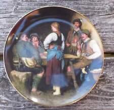 Wilderer in der Sennhütte - Teller No. 1913 - Lilien Porzellan Austria, von 1988