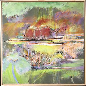 PIERRE GRAZIANI (1932-2020) FINE FRENCH OIL CANVAS - FLORAL OASIS -